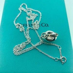 "Tiffany & Co Apple 🍎Charm Pendant 24""Chain"